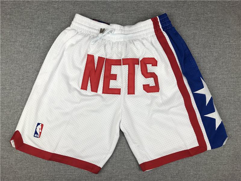 Nets White Nike Swingman Mesh Shorts