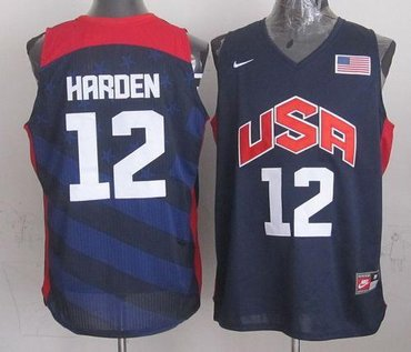 New 2012 Olympics Team USA #12 James Harden Dark Blue Stitched NBA Jersey