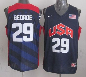New 2012 Olympics Team USA #29 Paul George Dark Blue Stitched NBA Jersey