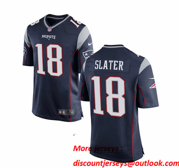 New England Patriots #18 Matthew Slater Blue Vapor Limited Jersey