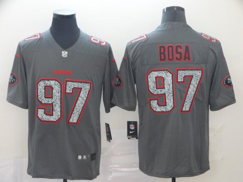 Nike 49ers 97 Nick Bosa Gray Camo Vapor Untouchable Limited Jersey