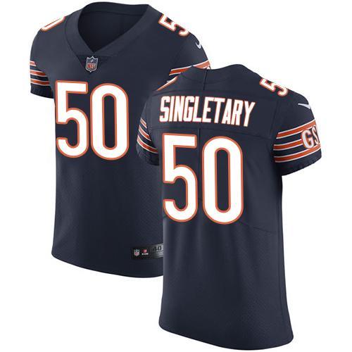 Nike Bears #50 Mike Singletary Navy Blue Team Color Men's Stitched NFL Vapor Untouchable Elite Jersey