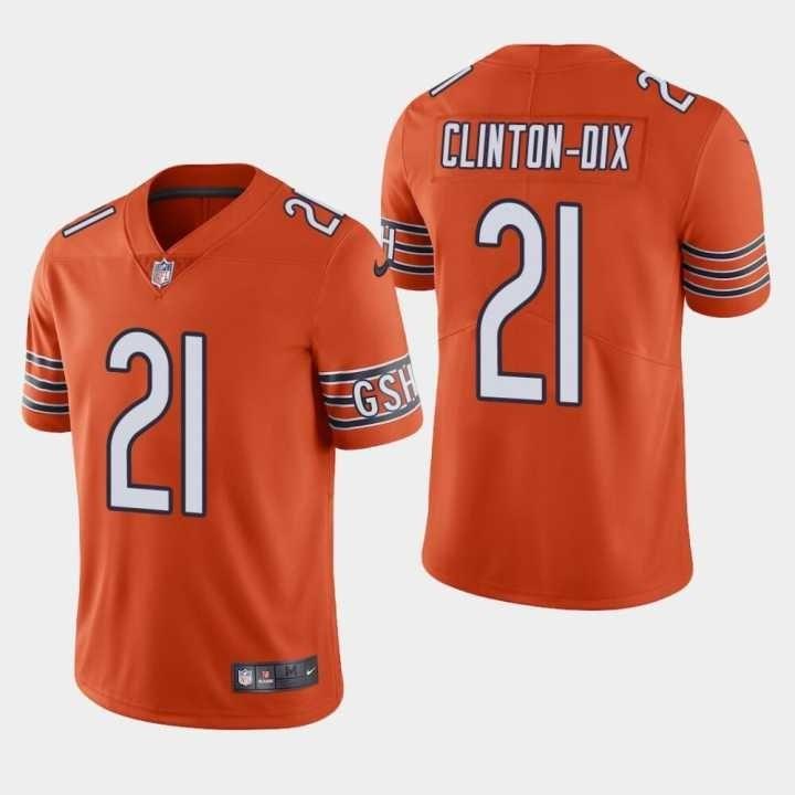 Nike Bears 21 HaHa Clinton Dix Orange Vapor Untouchable Limited Jersey