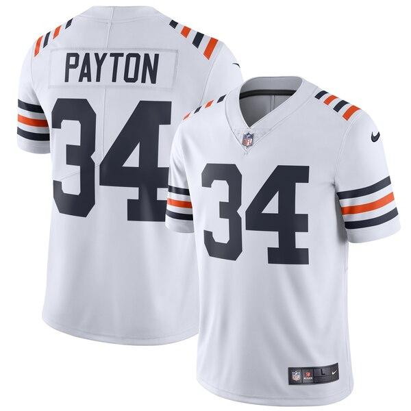 Nike Bears 34 Walter Payton White 2019 Alternate Classic Retired Vapor Untouchable Limited Jersey