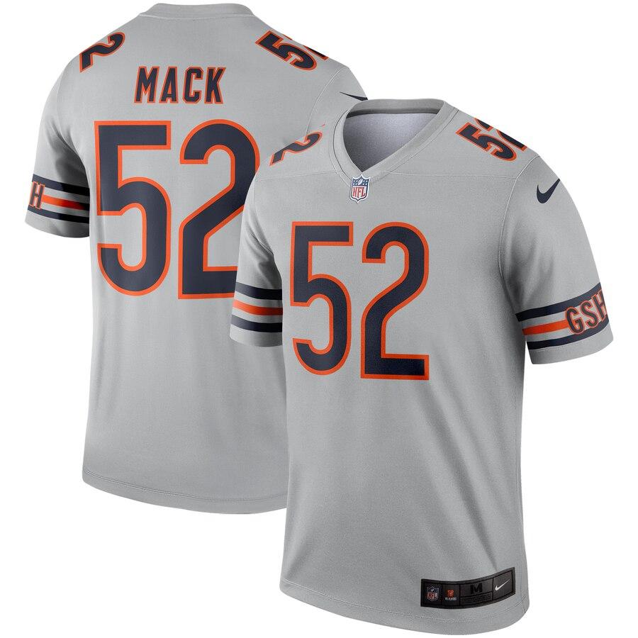 Nike Bears 52 Khalil Mack Silver Inverted Legend Jersey