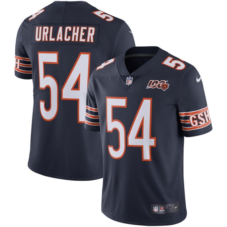 Nike Bears 54 Brian Urlacher Navy 100th Anniversary Retired Vapor Untouchable Limited Jersey