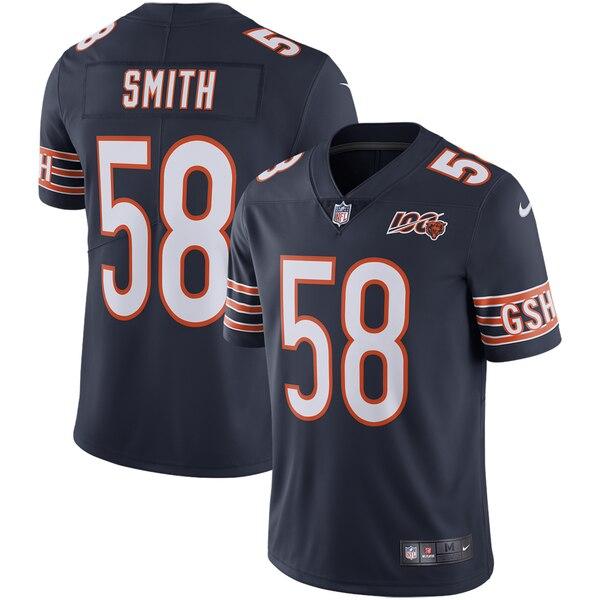 Nike Bears 58 Roquan Smith Navy NFL 100th Season Vapor Untouchable Limited Jersey