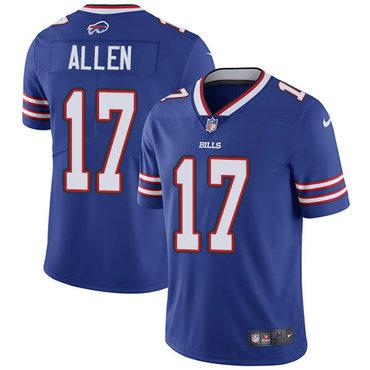 Nike Bills #17 Josh Allen Royal Blue Team Color Stitched NFL Vapor Untouchable Limited Jersey