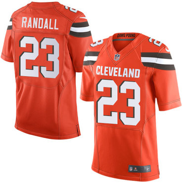 Nike Browns #23 Damarious Randall Orange Alternate Men's Stitched NFL Elite Jersey
