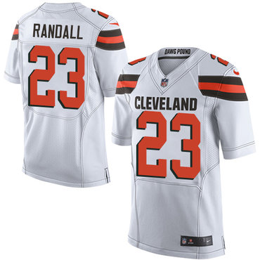 Nike Browns #23 Damarious Randall White Men's Stitched NFL Elite Jersey