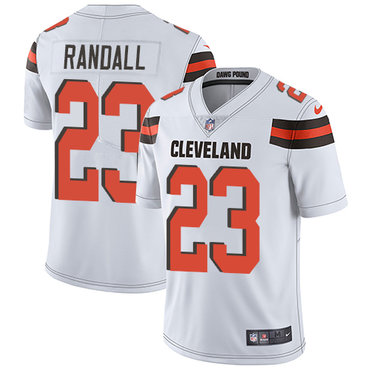 Nike Browns #23 Damarious Randall White Men's Stitched NFL Vapor Untouchable Limited Jersey