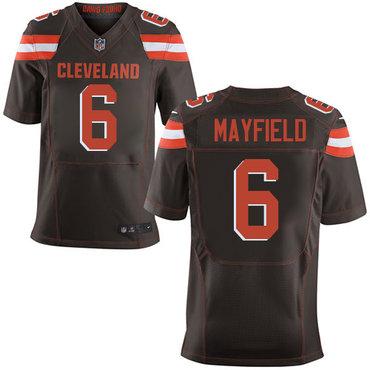 Nike Browns #6 Baker Mayfield Brown Team Color Men's Stitched NFL Elite Jersey