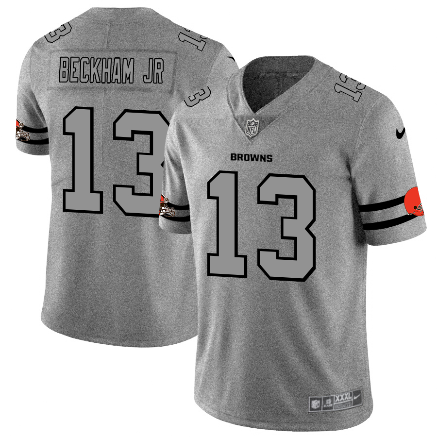 Nike Browns 13 Odell Beckham Jr. 2019 Gray Gridiron Gray Vapor Untouchable Limited Jersey