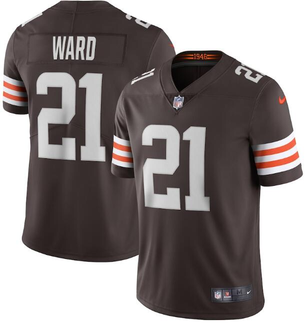 Nike Browns 21 Denzel Ward Brown 2020 New Vapor Untouchable Limited Jersey