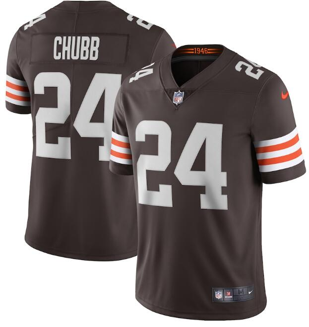 Nike Browns 24 Nick Chubb Brown 2020 New Vapor Untouchable Limited Jersey