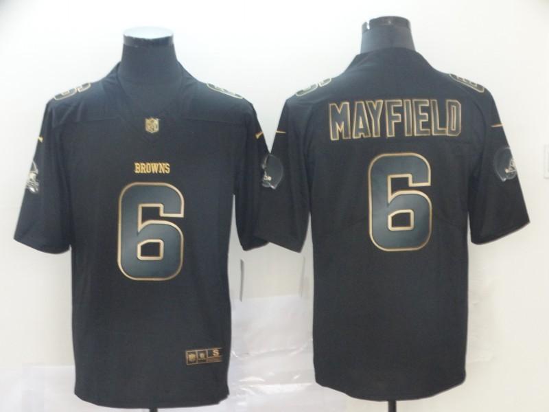 Nike Browns 6 Baker Mayfield Black Gold Vapor Untouchable Limited Jersey