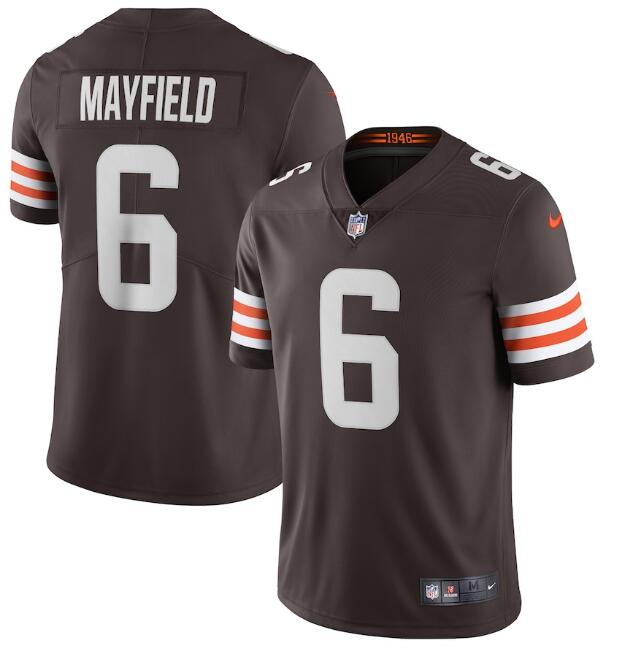 Nike Browns 6 Baker Mayfield Brown 2020 New Vapor Untouchable Limited Jersey