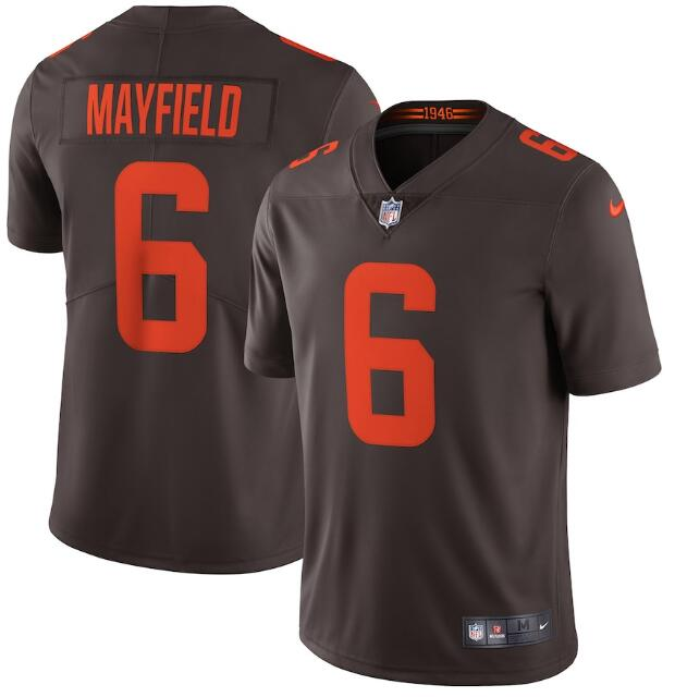 Nike Browns 6 Baker Mayfield Brown Alternate 2020 New Vapor Untouchable Limited Jersey