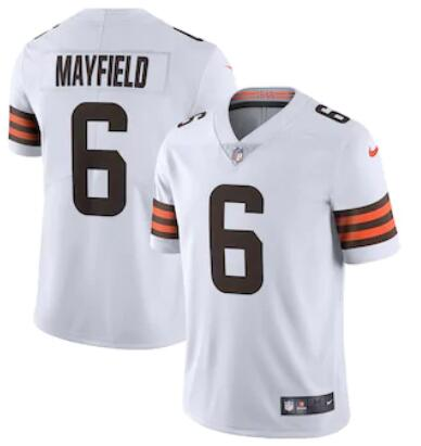 Nike Browns 6 Baker Mayfield White 2020 New Vapor Untouchable Limited Jersey