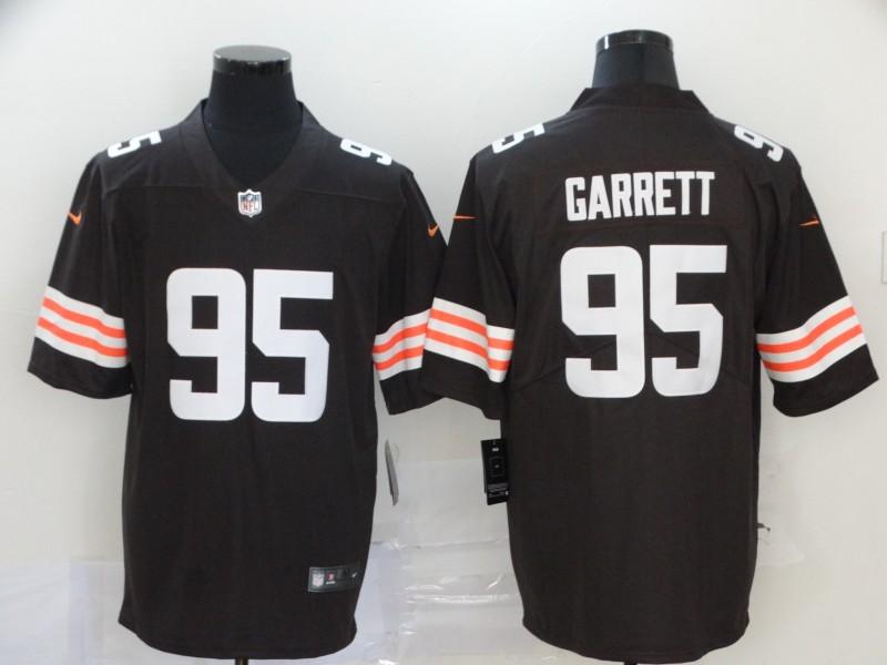 Nike Browns 95 Myles Garrett Brown 2020 New Vapor Untouchable Limited Jersey