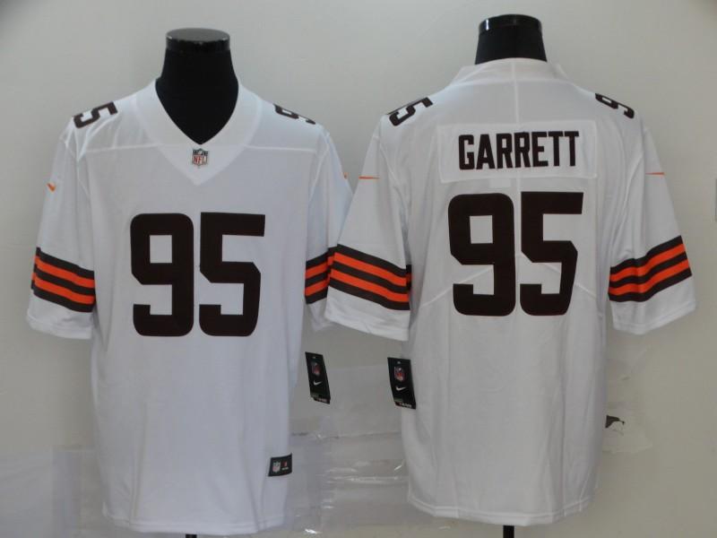 Nike Browns 95 Myles Garrett White 2020 New Vapor Untouchable Limited Jersey