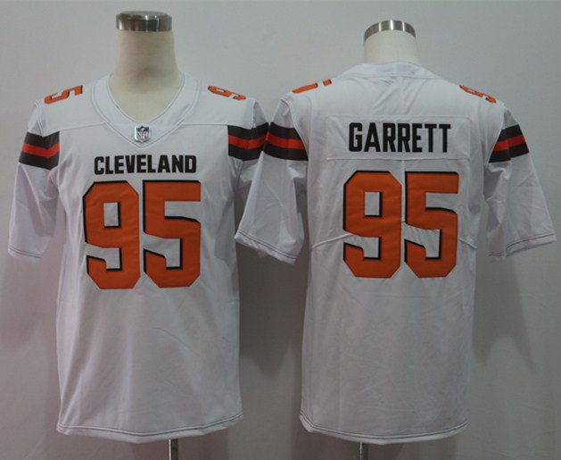 1a993e204 Nike Browns 95 Myles Garrett White Vapor Untouchable Player Limited Jersey