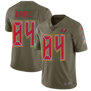 Nike Buccaneers #84 Cameron Brate Olive Men's Stitched NFL Limited 2017 Salute To Service Jersey