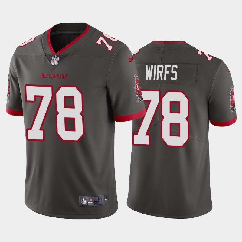 Nike Buccaneers 78 Tristan Wirfs Gray 2020 NFL Draft First Round Pick Vapor Untouchable Limited Jersey