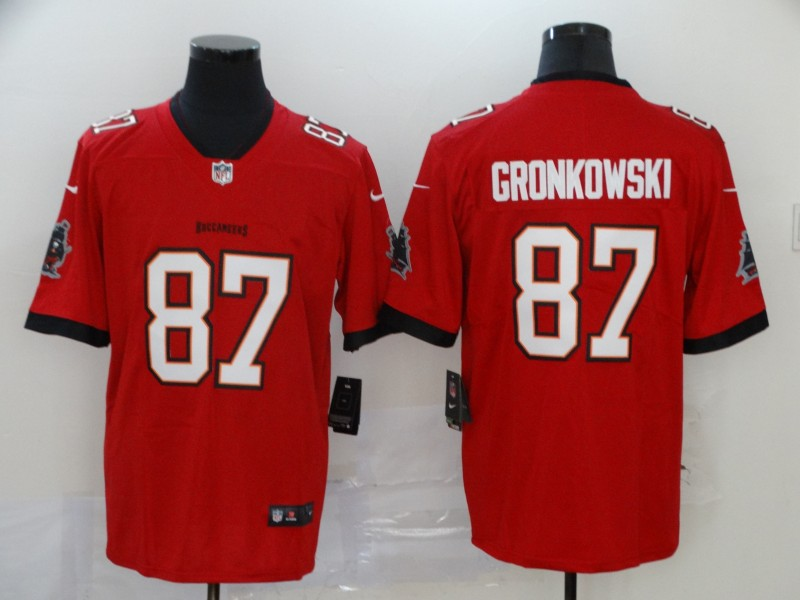 Nike Buccaneers 87 Rob Gronkowski  red New 2020 Vapor Untouchable Limited Jersey