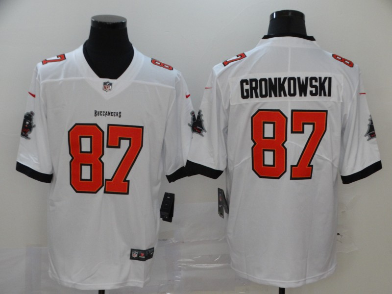 Nike Buccaneers 87 Rob Gronkowski  white New 2020 Vapor Untouchable Limited Jersey