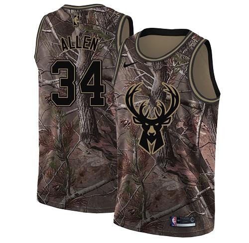 Nike Bucks #34 Ray Allen Camo NBA Swingman Realtree Collection Jersey