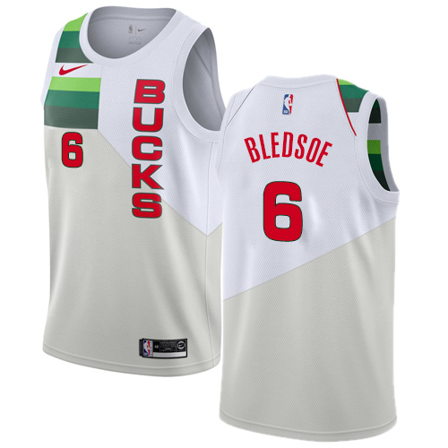 Nike Bucks #6 Eric Bledsoe White NBA Swingman Earned Edition Jersey