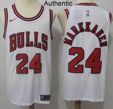 Nike Bulls #24 Lauri Markkanen White NBA Authentic Association Edition Jersey