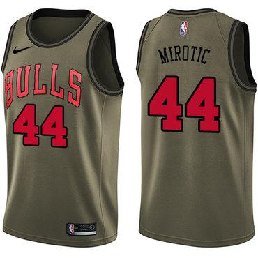Nike Bulls #44 Nikola Mirotic Green Salute to Service NBA Swingman Jersey