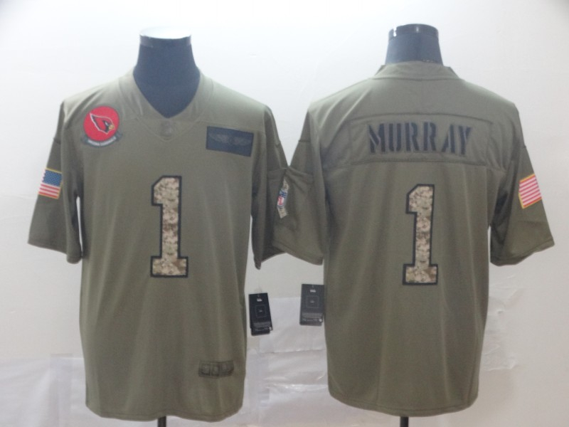 Nike Cardinals 1 Kyler Murray 2019 Olive Camo Salute To Service Limited Jersey