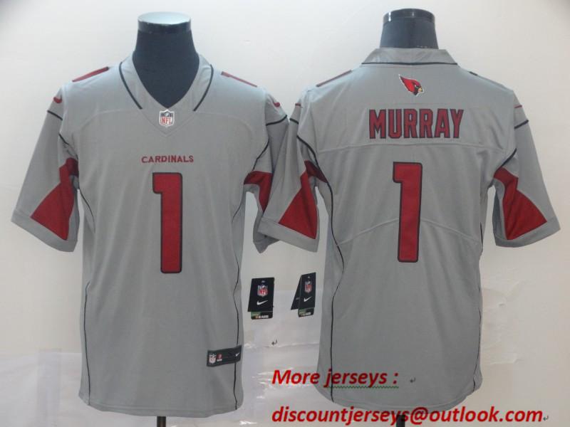 Nike Cardinals 1 Kyler Murray Silver Inverted Legend Jersey