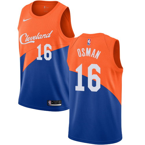 Nike Cavaliers #16 Cedi Osman Blue NBA Swingman City Edition 2018 19 Jersey