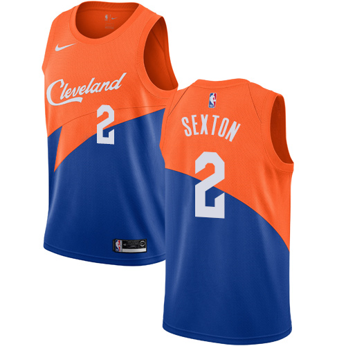 Nike Cavaliers #2 Collin Sexton Blue NBA Swingman City Edition 2018 19 Jersey