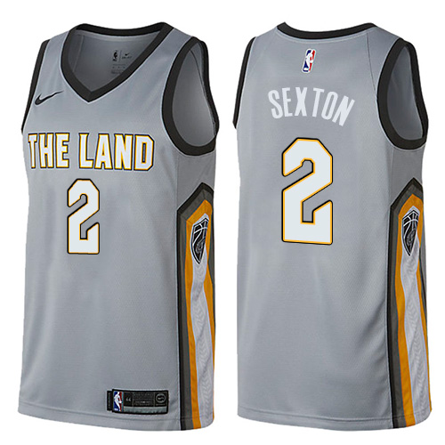 Nike Cavaliers #2 Collin Sexton Gray NBA Swingman City Edition Jersey