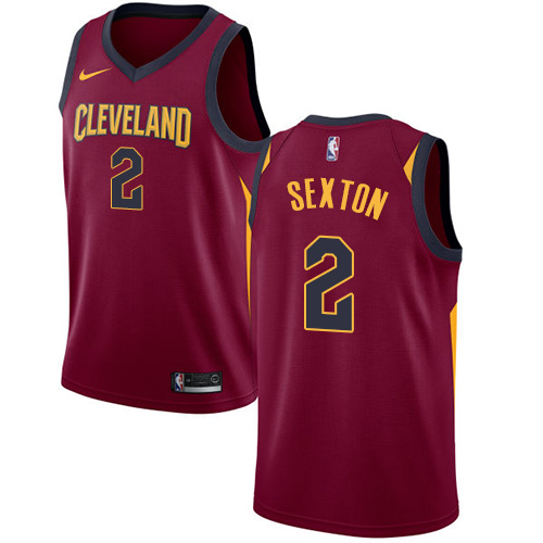 Nike Cavaliers #2 Collin Sexton Red NBA Swingman Icon Edition Jersey