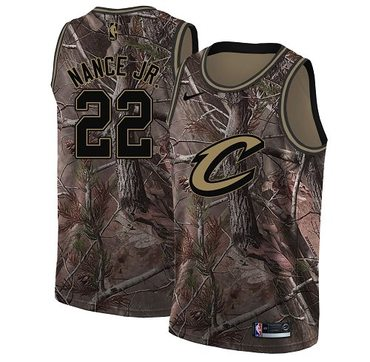 Nike Cavaliers #22 Larry Nance Jr. Camo NBA Swingman Realtree Collection Jersey