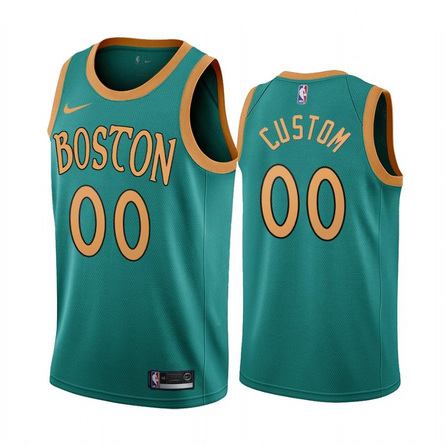 Nike Celtics Custom Green 2019-20 City Edition NBA Jersey