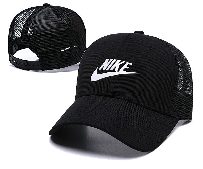 Nike Classic Black Mesh Peaked Adjustable Hat TX