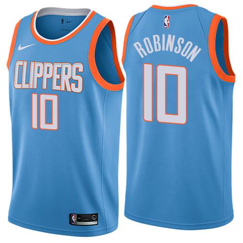 Nike Clippers #10 Jerome Robinson Blue NBA Swingman City Edition Jersey