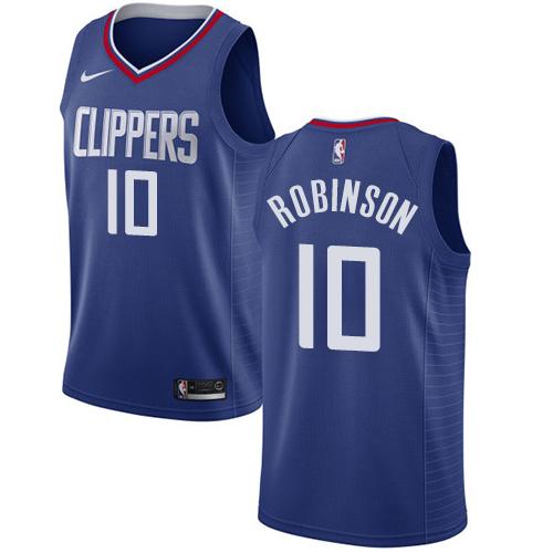 Nike Clippers #10 Jerome Robinson Blue NBA Swingman Icon Edition Jersey