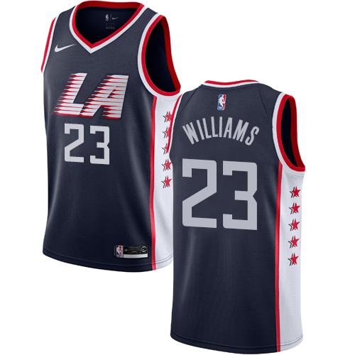 Nike Clippers #23 Louis Williams Navy NBA Swingman City Edition 2018 19 Jersey