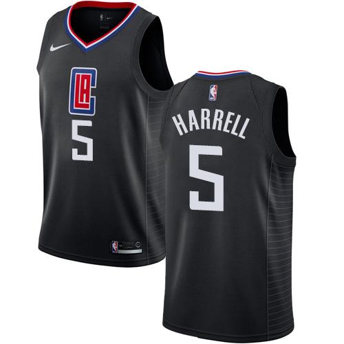 Nike Clippers #5 Montrezl Harrell Black NBA Swingman Statement Edition Jersey