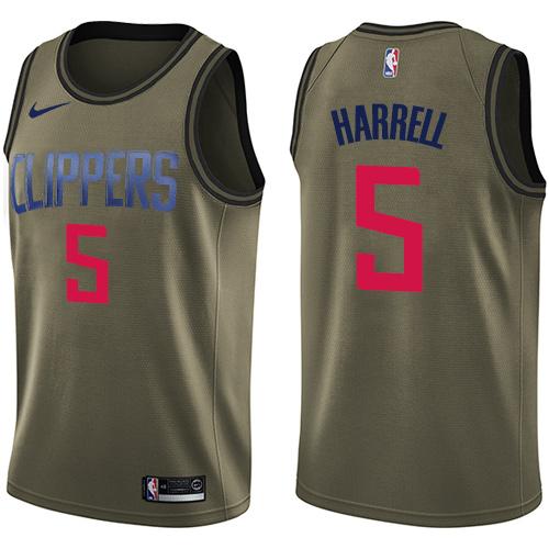Nike Clippers #5 Montrezl Harrell Green NBA Swingman Salute to Service Jersey