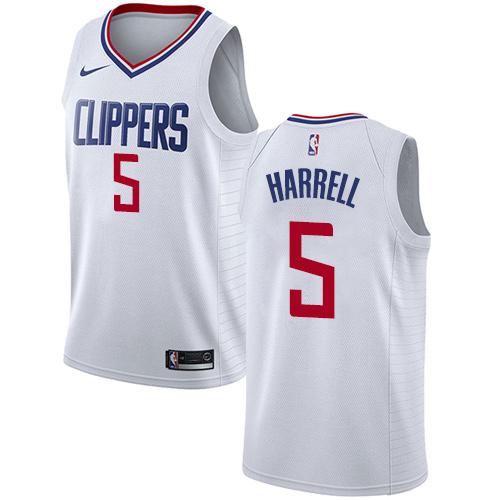 Nike Clippers #5 Montrezl Harrell White NBA Swingman Association Edition Jersey