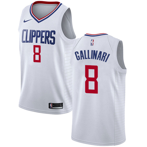 Nike Clippers #8 Danilo Gallinari White NBA Swingman Association Edition Jersey